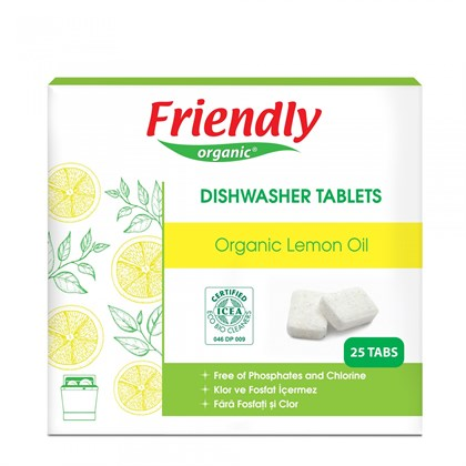 Friendly Organic Bulaşık Makinesi Tablet Deterjanı 25 li